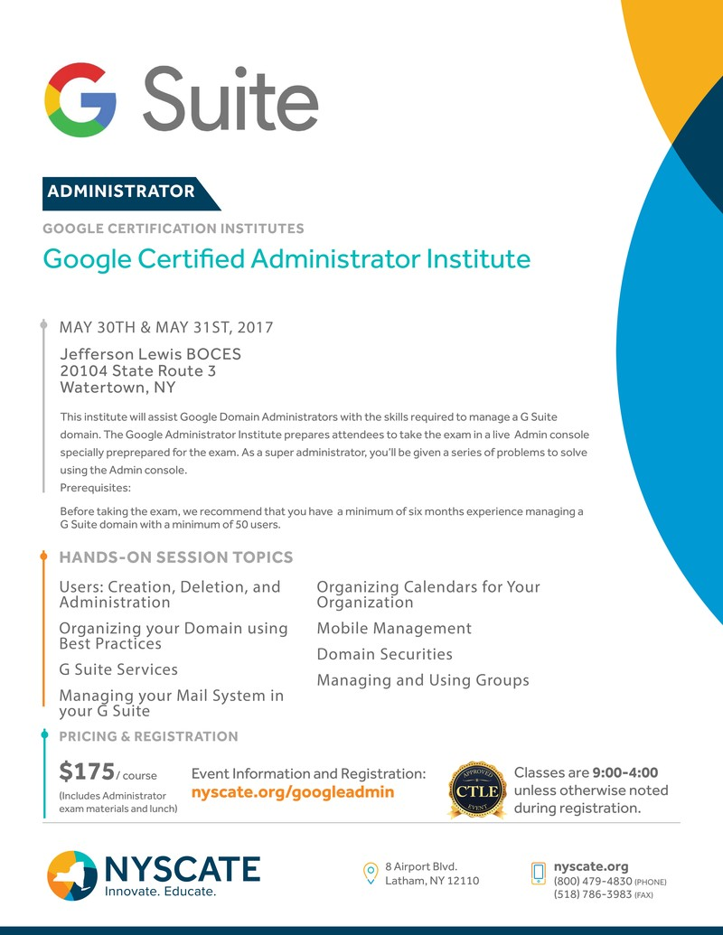 Google Certified Trainer Watertown